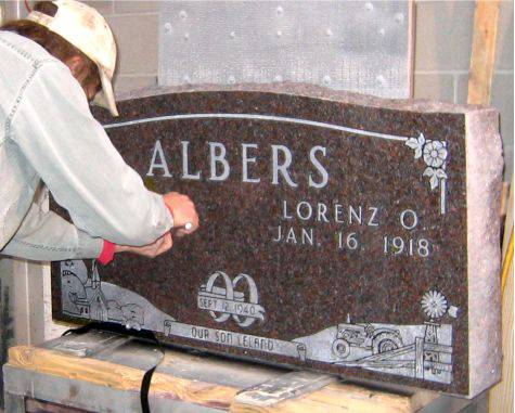 We carve your memorial right in our Nebraska City shop