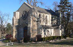 Rude Memorial Chapel, in southeastern portion of Wyuka Cemetery in Lincoln, Nebraska